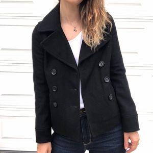 Old Navy   Wool Blend Pea Coat Black Short